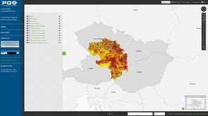 Create a population density map, example image 4